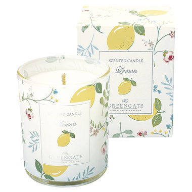 GreenGate Scented candle Limona white 120g H:7,5cm