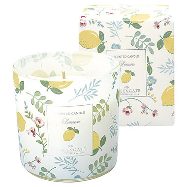 GreenGate Scented candle Limona white 240g H:10cm