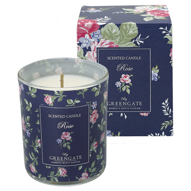 GreenGate Scented candle Rose white 120g H:7,5cm