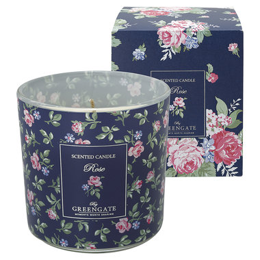 GreenGate Scented candle Rose white 240g H:10cm