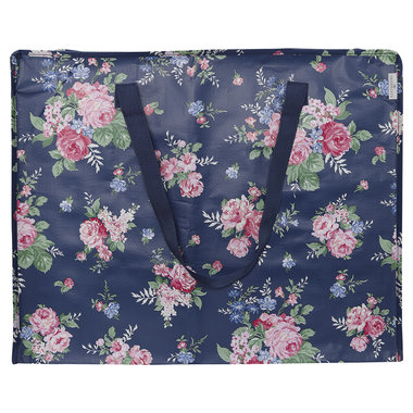 GreenGate Storage bag Rose Dark Blue Large 47x30x58cm