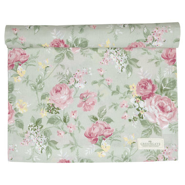 GreenGate Cotton Table runner Josephine Pale Mint 45x140cm