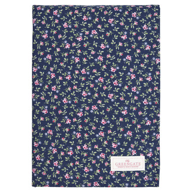 GreenGate Cotton Tablecloth Berta dark blue 150x150cm