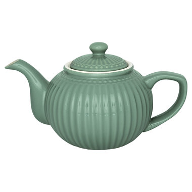 GreenGate Everyday Alice Teapot Alice Dusty Green 1L
