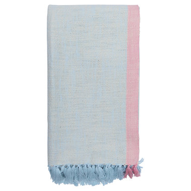 GreenGate Throw Minna pale blue 130x180cm