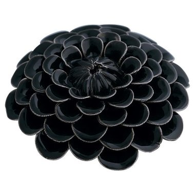 Gate Noir Flower decoration dark grey GN  D:9,5 cm