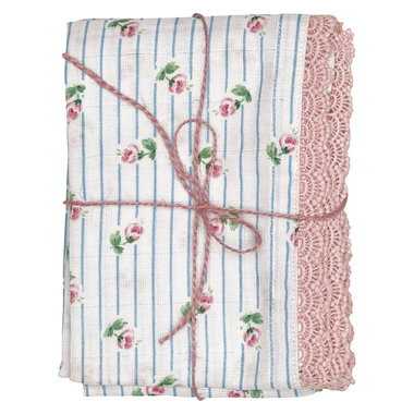 GreenGate Baby cloth Lily white set of 3 50x70cm