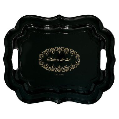 Gate Noir by GreenGate Tray Elvina gold large GN