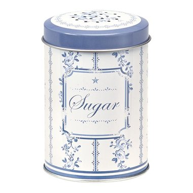 GreenGate Tin Sugarshaker Audrey Indigo