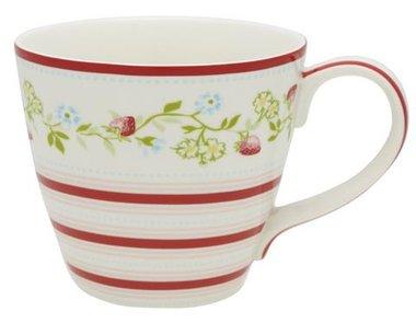 GreenGate Stoneware Gloria White Tea Mug Limited Edition H: 9cm