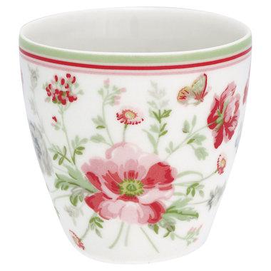 GreenGate Stoneware Mini Latte Cup Meadow White H: 6,5cm