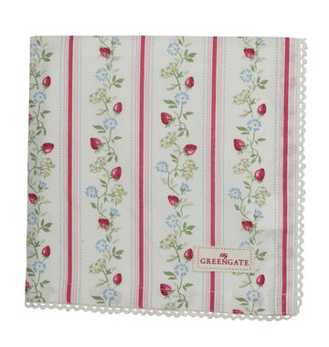GreenGate Napkin with Lace Gloria White Limited Edition