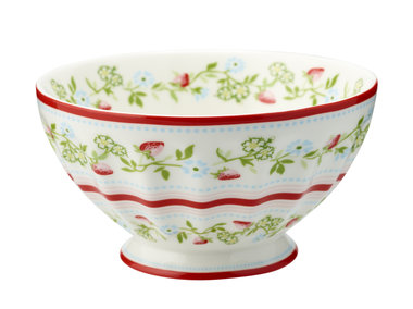 GreenGate Stoneware Gloria White French Bowl XL Limited Edition D: 13,5cm