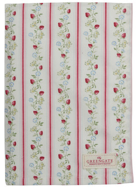 GreenGate Cotton Tea towel Gloria White Limited Edition 50x70cm