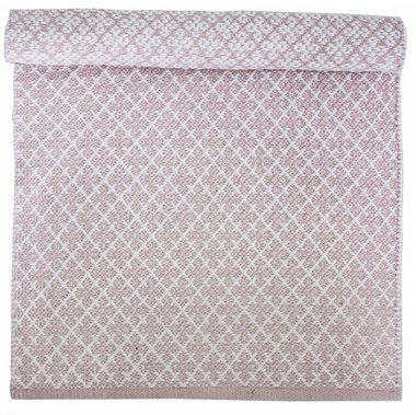 Isabelle Rose Katoenen Mat Orient Pastel Pink 60 x 90cm