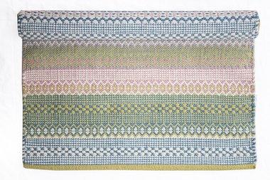 Isabelle Rose Katoenen Mat Light Blue, Pink & Green 60 x 90cm