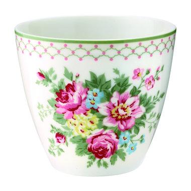 GreenGate Mokje / Latte cup Aurelia white H: 9cm