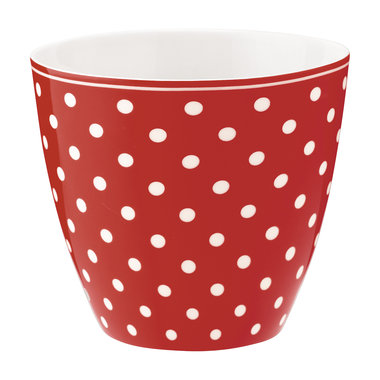 GreenGate Mokje / Latte cup Spot red H: 9cm