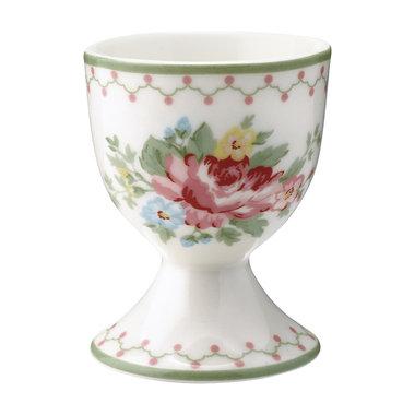 GreenGate Eierdop / Egg cup Aurelia white H:6,5cm