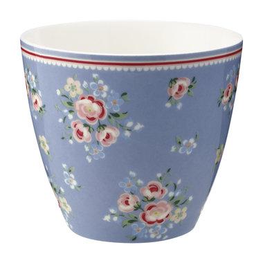 GreenGate Mokje / Latte cup Nicoline Dusty Blue H: 9cm