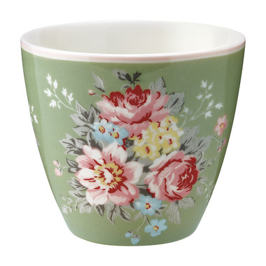 GreenGate Mokje / Latte cup  Aurelia green H: 9cm