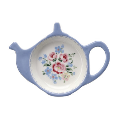 GreenGate Theezakjeshouder / Teabag holder Nicoline Dusty Blue
