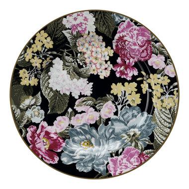 GreenGate Ontbijtbord / Plate Adele Black D: 20,5cm