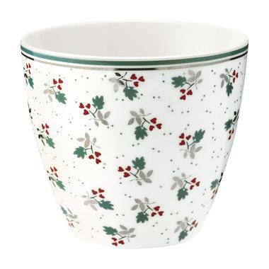 GreenGate Mokje / Latte cup Joselyn white H: 9cm