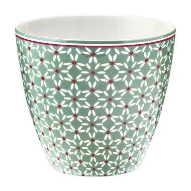 GreenGate Mokje / Latte cup Juno green H: 9cm