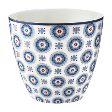 GreenGate Mokje / Latte cup Erin petit pale blue H: 9cm