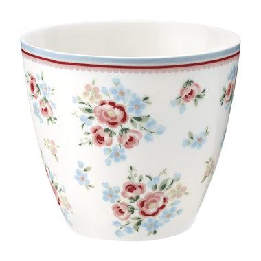 GreenGate Mokje / Latte cup Nicoline White H: 9cm