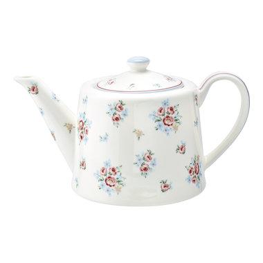 GreenGate Theepot / Teapot Nicoline white H 15,5 cm
