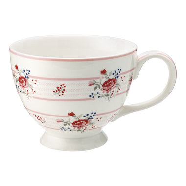 GreenGate Theekop / Teacup Fiona pale pink H: 9cm