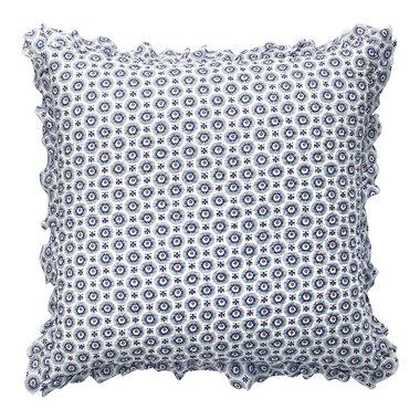 GreenGate Sierkussen / Cushion Erin Petit Blue w/frill 50x50cm