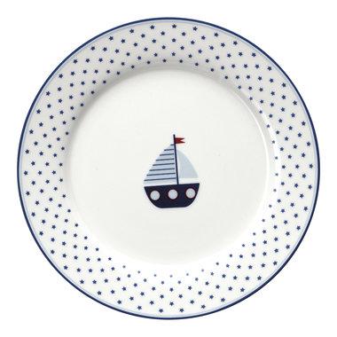 GreenGate Kinder Bord / Kids plate Noah Blue D:20cm