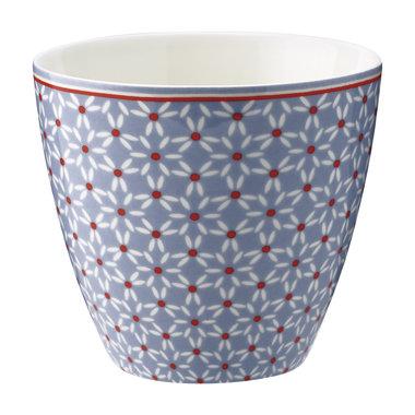 GreenGate Mokje / Latte cup Juno dusty blue H: 9cm