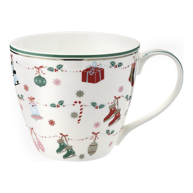 GreenGate Mok / Mug Jingle bell white H: 9cm