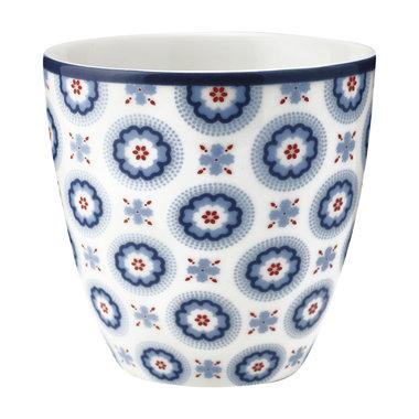 GreenGate Stoneware Espresso Mokje / Mini latte cup Erin petit pale blue H: 6,5cm