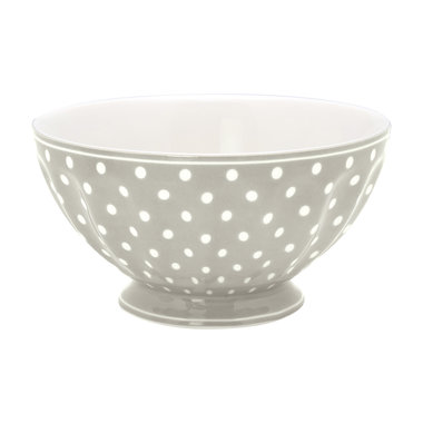 GreenGate Cereal Schaaltje / French bowl xlarge Spot Grey D:13,5cm