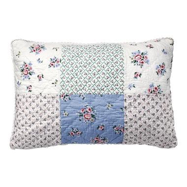 GreenGate Sierkussen / Cushion Nicoline white patchwork 40x60cm