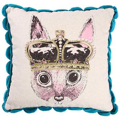 Ginger in Wonderland Sierkussen / Cushion Prince - Blue