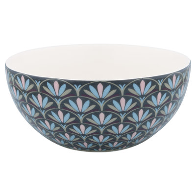 GreenGate Cereal Bowl Victoria Dark Grey D: 14,7 cm
