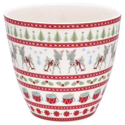 GreenGate Latte Cup Bambi White