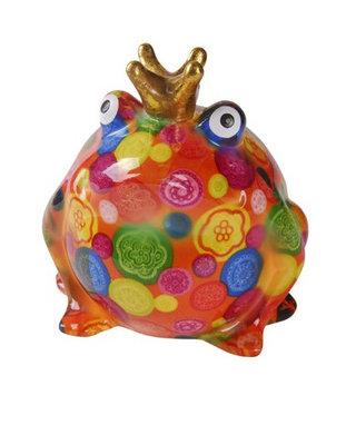 Pomme-Pidou King Frog Freddy Rood met bollen en bloemen
