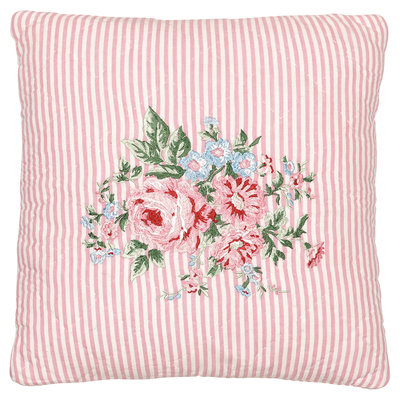 GreenGate Cushion Cover Marley pale pink w/embroidery 40x40cm