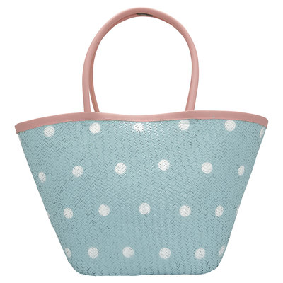 GreenGate Basket bag Spot pale blue