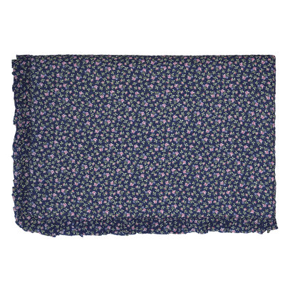 GreenGate Quilted Bed cover Berta dark blue w/frill 140x220cm
