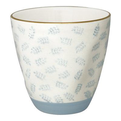 GreenGate Cup Lianna pale blue w/gold H: 8,7cm