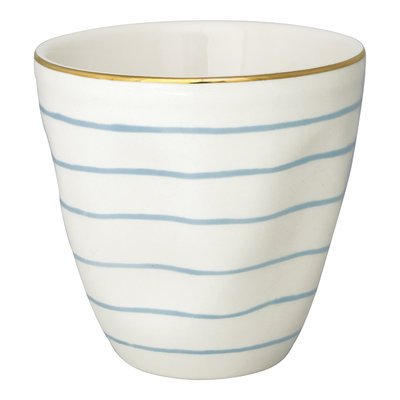 GreenGate Cup Sally pale blue w/gold H: 8,7cm