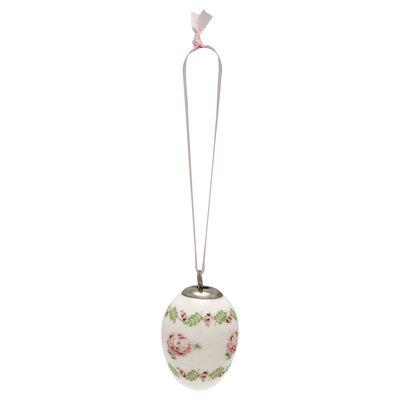 GreenGate Decorative egg Lily petit white set of 2 ass hang